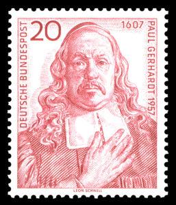 Paul Gerhardt auf einer Briefmarke